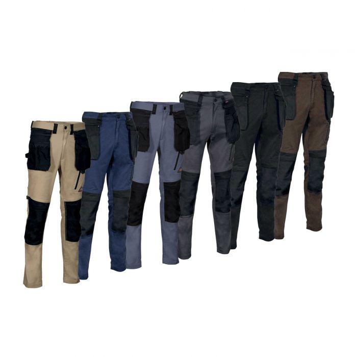 Pantaloni da Lavoro Cargo Indumenti Protettivi Sicurezza Nero Gr.44-64 Nuovo