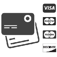Pay by credit card or prepaid card